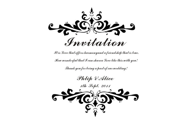 Personalized Rubber Stamp For Wedding Invitation Diy