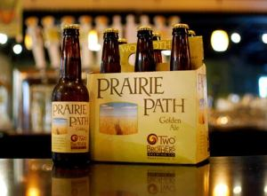 two brothers brewing co. gluten reduced beer Prairie Path Golden Ale