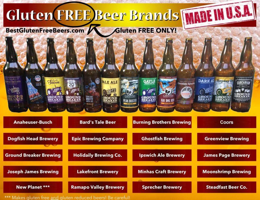 gluten free beer brands list usa edition gluten free only
