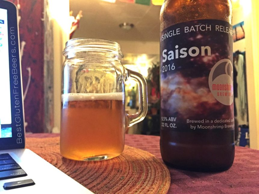 moonshrimp brewing saison gluten free beer review