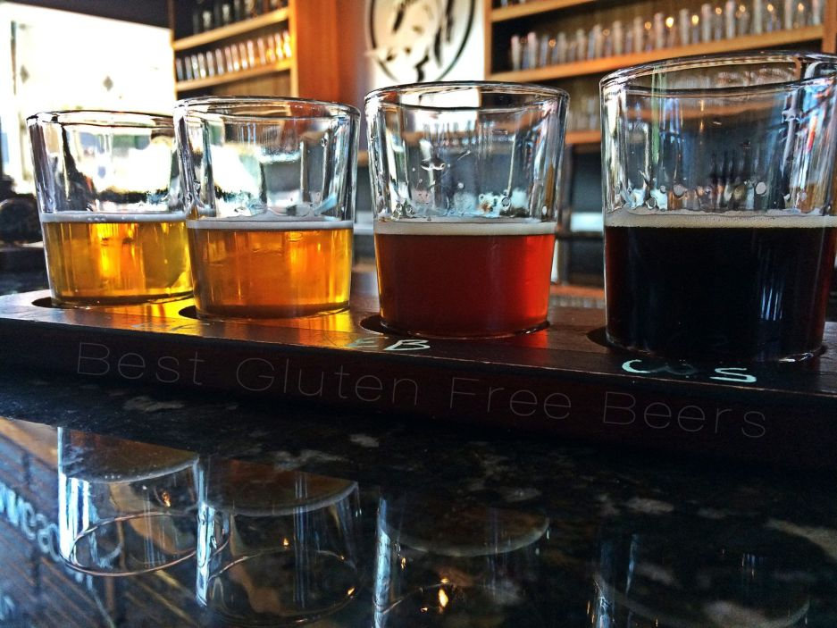 ghostfish brewing taproom gluten free beer tour taproom review tasting flight