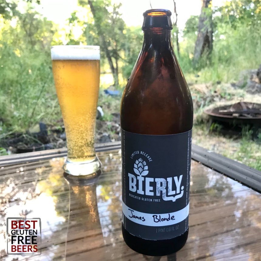 Bierly Brewing James Blonde Ale gluten free beer review