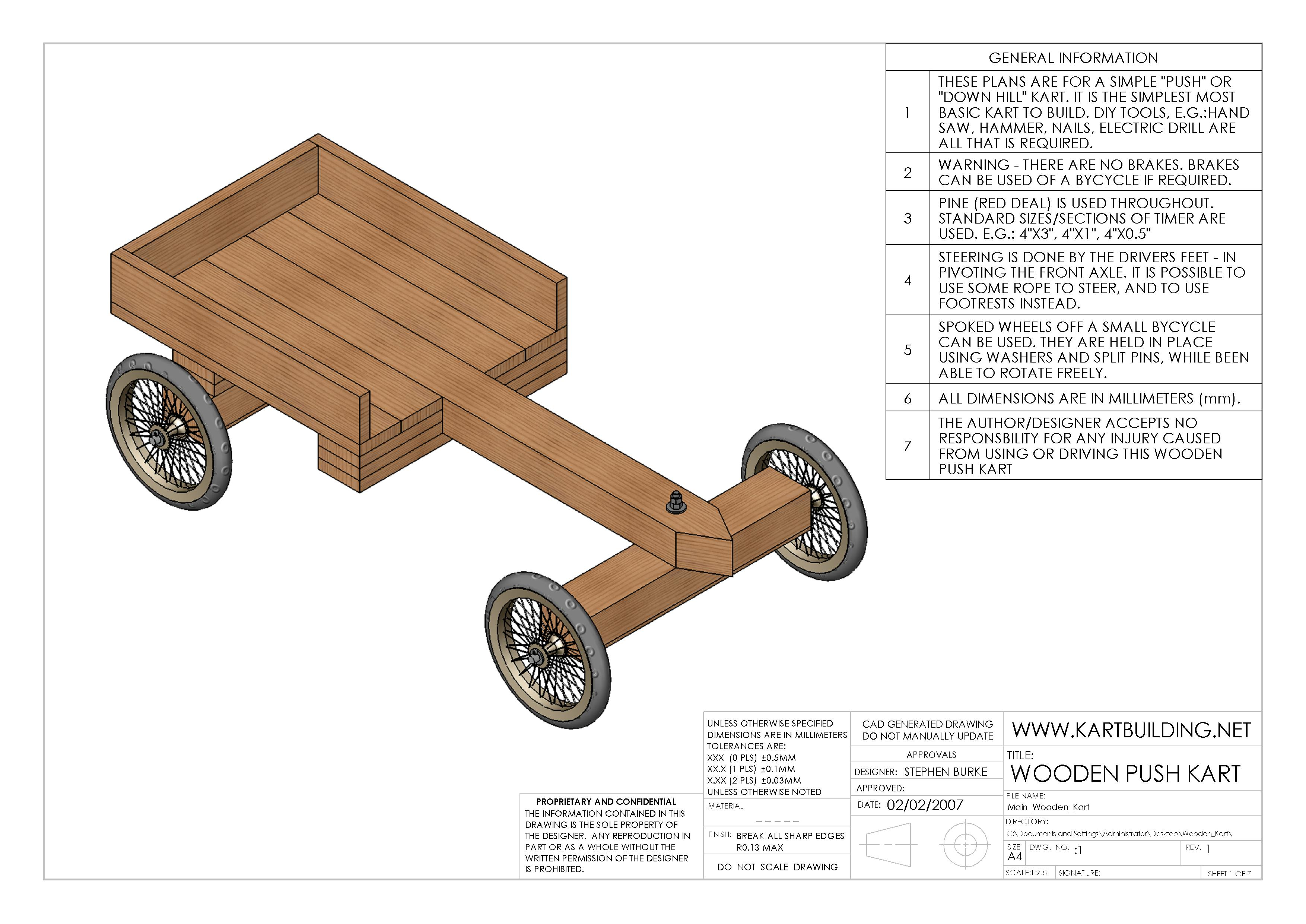 Build Diy Wooden Go Kart Plans With Pedals Plans Wooden Woodworking
