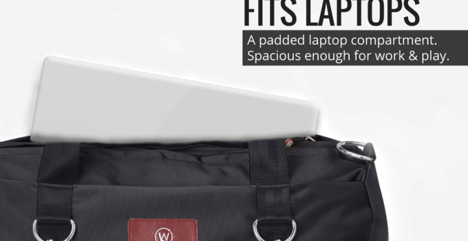 gym bag with laptop compartment
