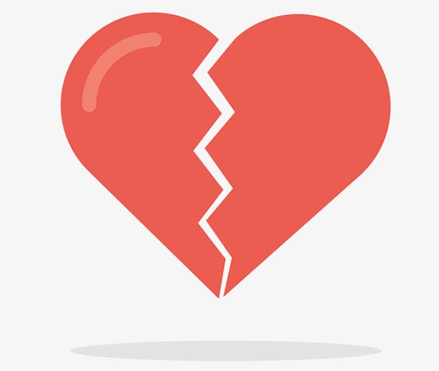 Silent Signs Of Asthma Heart Disease A Broken Heart Illustration