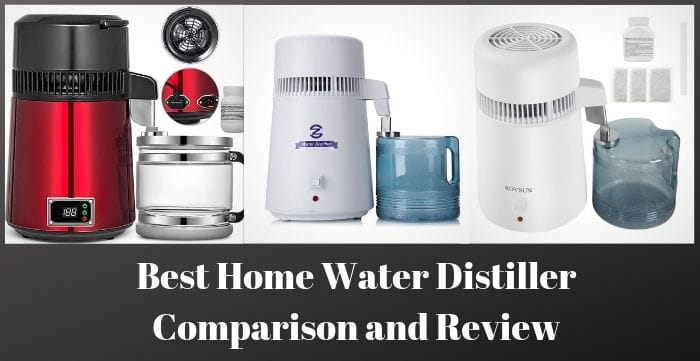 CO-Z Brushed Stainless Steel Water Distiller 4L Distilled Water Making Machine FDA Approved Distilling Pure Water Machine for Countertop Table Desktop Water Purifier to Make Clean Water