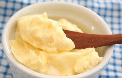 Homemade organic butter