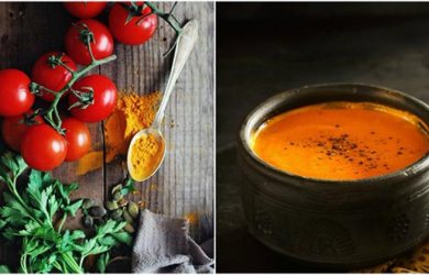 Black Pepper Turmeric Tomato Soup Recipe