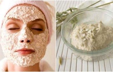 oatmeal yogurt face mask