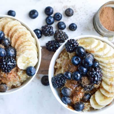 Mind Blowing Blueberry Baked Oatmeal