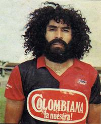Nery con la camiseta del Cúcuta colombiano.