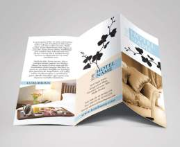 bed and breakfast hotel trifold cover