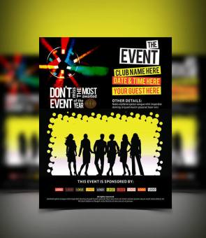 bold and vivid event flyer flat