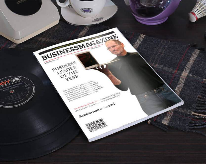 business magazine cover table
