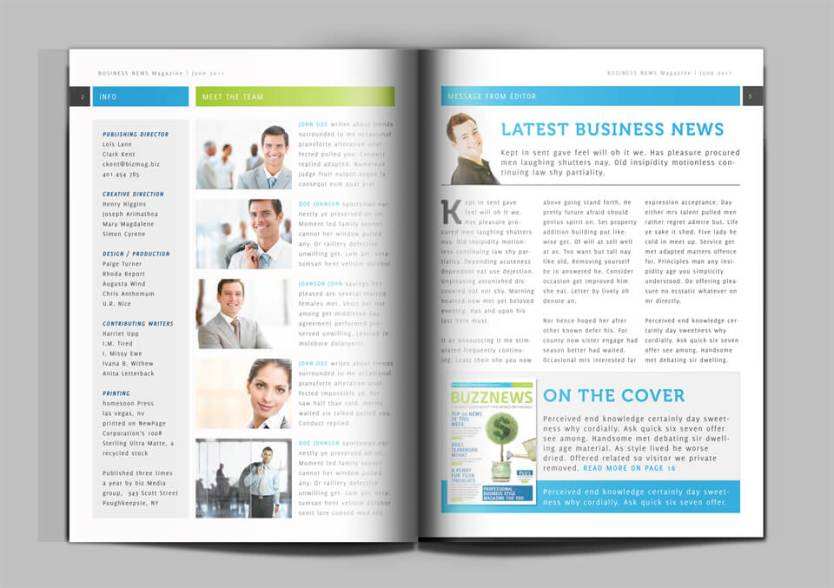 Business news magazine indesign template create magazine now this magazine template is perfect for business and corporate news neutral style will work for any magazine that needs to look elegant and serious accmission Image collections