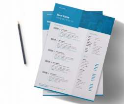 a4 creative indesign resume download 2 pages