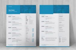 creative indesign resume standing