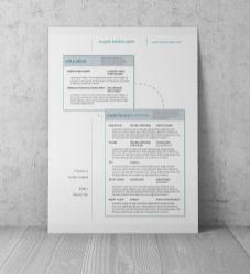 designer resume one wall