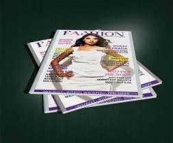 fashion magazine cover pile