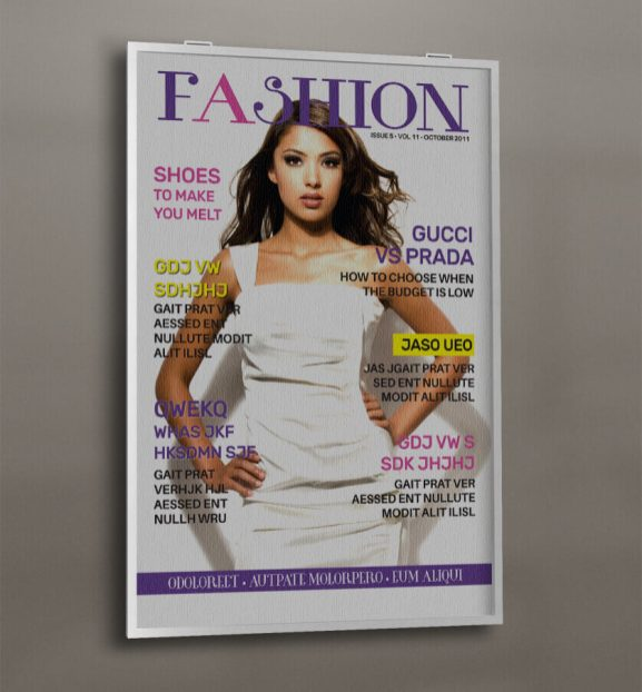 1 Page Fashion Magazine Cover Template
