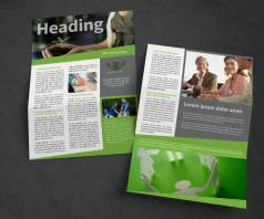 fresh non-profit newsletter side by side