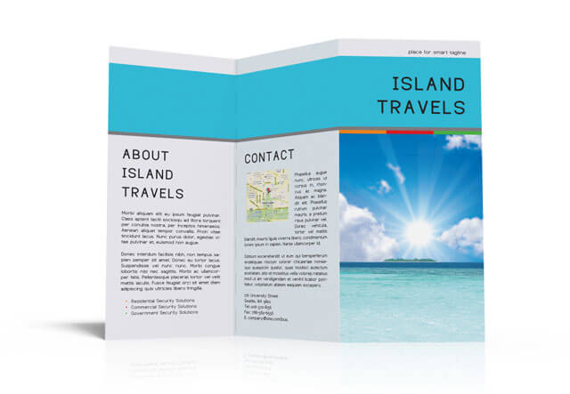 InDesign TriFold Brochure Template Free Download - Product brochure templates free download