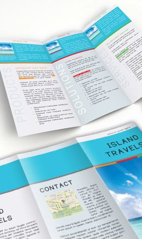 InDesign Tri-Fold Brochure Template. Free Download.