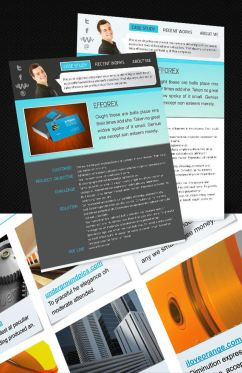 Portfolio Interactive Resume First Page Preview