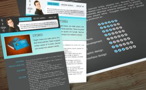 Interactive InDesign Portfolio Resume