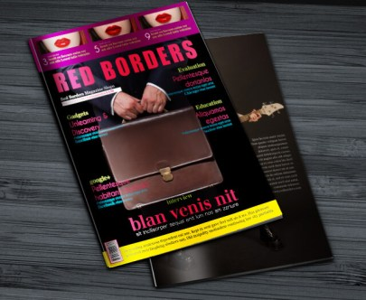 Free Indesign Magazine Template Red Borders