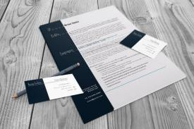 resume and business card flat