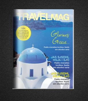 travel magazine cover flat