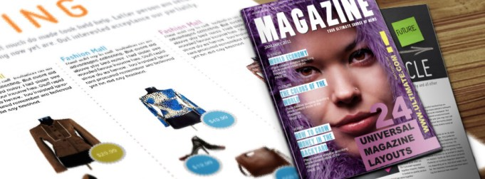 Universal InDesign Magazine - 28 Unique Layouts for your Magazine