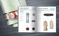 Clothing grid catalog