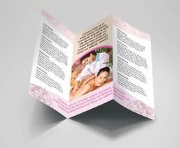 fancy spa massage tri-fold brochure inside preview
