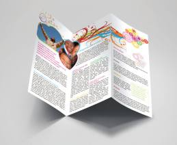 fancy spa massage tri-fold brochure inside preview