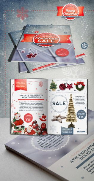InDesign Christmas brochure