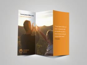 Trifold Church Brochure Cover Preview