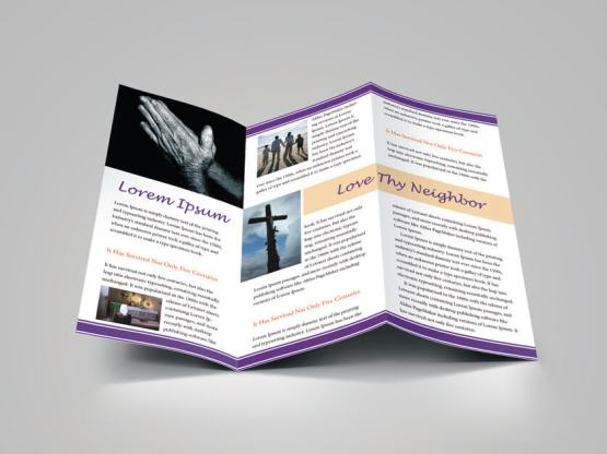 download design template for church bulletin religious brochure