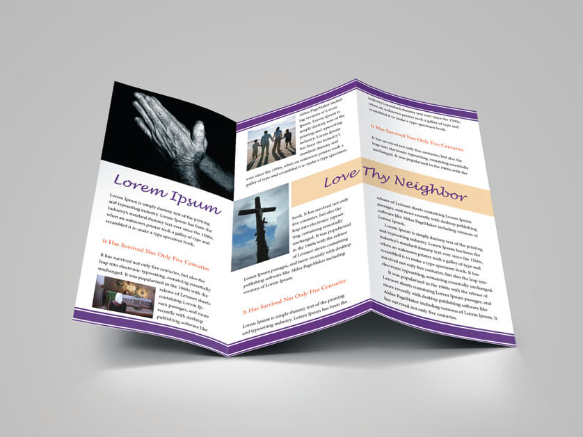 Good Trifold Religious Brochure Body Preview