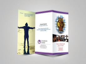 Trifold Religious Brochure Cover Preview