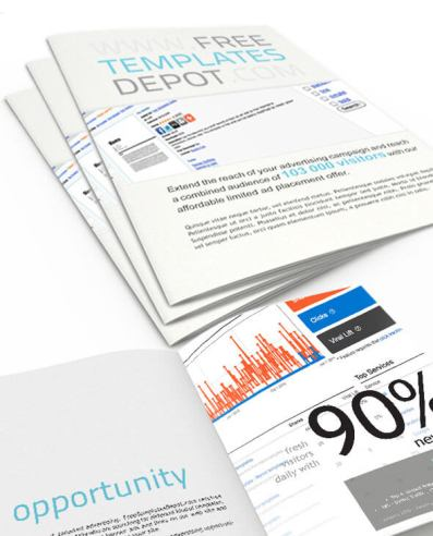 Web Ad Proposal Cover and Inside Preview
