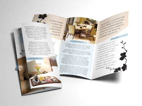 bed and breakfast hotel trifold open
