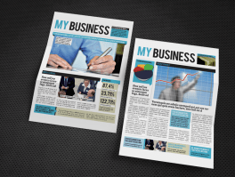 facts and numbers financial newsletter side by side