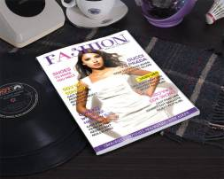 fashion magazine cover table