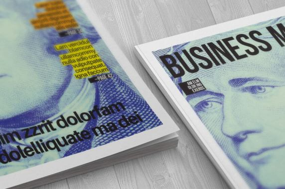 simple magazine cover corners