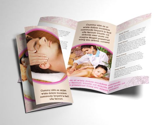 Fancy Spa & Massage Brochure. Download, Make Your Own Brochure.