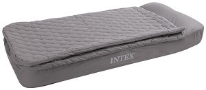Intex Recreation Velvet Flocked Pattern Twin Size Air Bed And Sleeping Bag Combo
