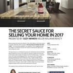 The Secret Sauce For Selling Your Home in 2017