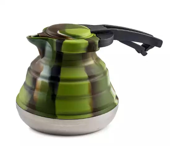 Level one collapsible silicone outdoor camping kettle